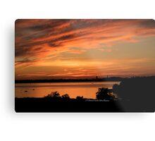 Sunset Seaside Metal Print