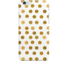 gold dots iPhone Case/Skin