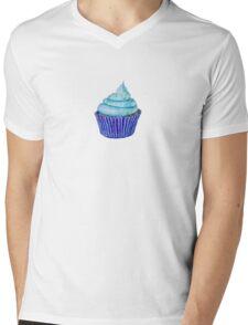 Blue Cupcakes Mens V-Neck T-Shirt