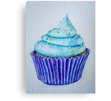 Blue Cupcakes Canvas Print