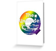 QSF Universe Logo - Transparent Greeting Card