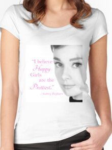 I Believe Happy Girls are the Prettiest Women's Fitted Scoop T-Shirt
