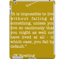 JK Rowling Quote iPad Case/Skin