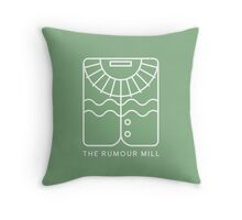 The Rumour Mill Green Throw Pillow