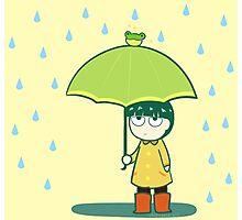 Frog Umbrella Photographic Print