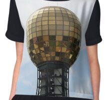 Disco Ball of Gold Chiffon Top