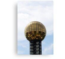 Disco Ball of Gold Canvas Print