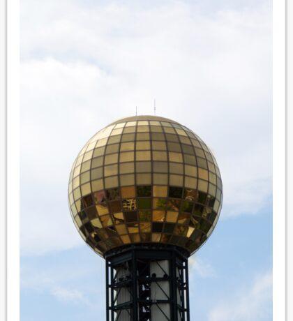 Disco Ball of Gold Sticker
