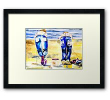 The Crab Catchers Framed Print