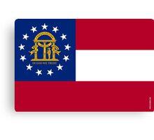 Georgia State Flag  Canvas Print
