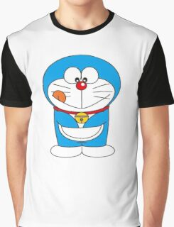 Doreamon digging in Graphic T-Shirt