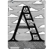 Letter A Architecture Section Alphabet  iPad Case/Skin