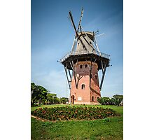 windmill under a blue sky Photographic Print