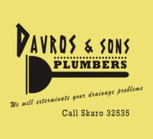 Davros and sons, plumbers... Kids Tee