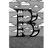 Letter B Architecture Section Alphabet  Photographic Print