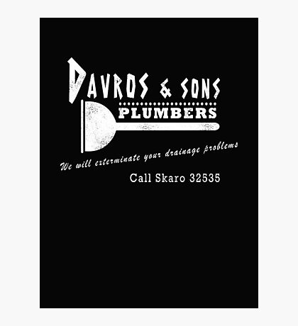 Davros and sons, plumbers... (aged) Photographic Print