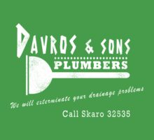 Davros and sons, plumbers... (aged) Kids Tee