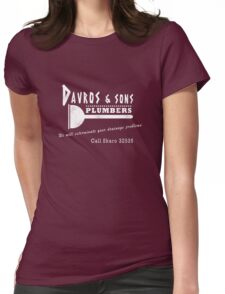 Davros and sons, plumbers... (aged) Womens Fitted T-Shirt
