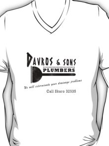 Davros and sons, plumbers... (aged) T-Shirt