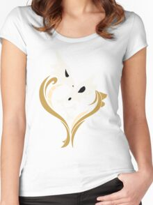 Lone Hearted ~ Cubone and Marowak  Women's Fitted Scoop T-Shirt