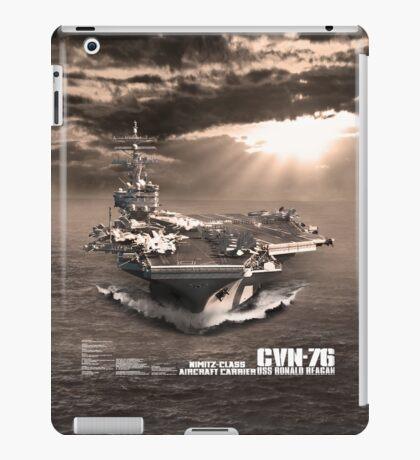 Aircraft carrier Ronald Reagan iPad Case/Skin
