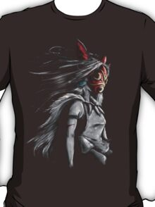 Mononoke Wolf Anime Tra Digital Painting T-Shirt
