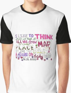 Maps by Maroon 5 Lyric Art Graphic T-Shirt