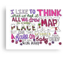 Maps by Maroon 5 Lyric Art Canvas Print