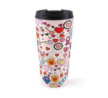Love heart doodle Travel Mug