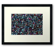 paint drop design - abstract spray paint drops 3 Framed Print