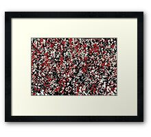paint drop design - abstract spray paint drops 4 Framed Print