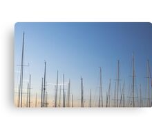 Masts and Sky Canvas Print