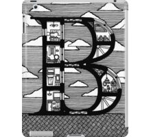 Letter B Architecture Section Alphabet  iPad Case/Skin