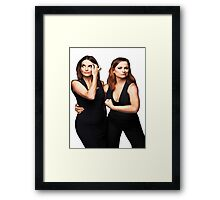 Tina Fey and Amy Poehler  Framed Print