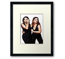 Tina Fey and Amy Poehler  Framed Print