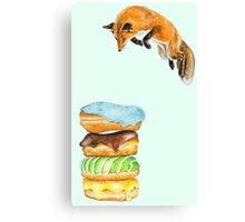 Donut Foxhole (Transparent Background) Canvas Print