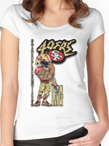 Tiger Look Women's Fitted Scoop T-Shirt