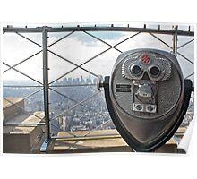 Empire State Binoculars Poster