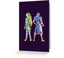 Extra Characters SOTN Vintage Pixels Greeting Card