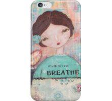 It´s ok to rest - Breathe iPhone Case/Skin