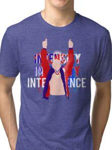 Intensity, Integrity, Intelligence   Kurt Angle Tri-blend T-Shirt