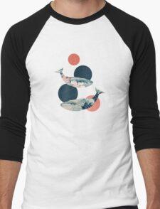 Whale and Polka Dots Men's Baseball ¾ T-Shirt