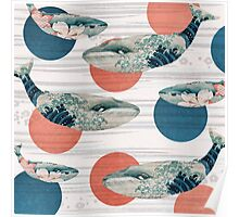 Whale and Polka Dots Poster