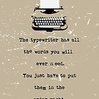Typewriter by wordquirk