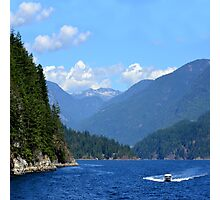 Boating on Indian Arm Photographic Print