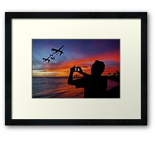 Drone Family in Hawaii Framed Print