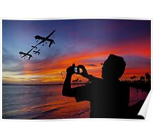 Drone Family in Hawaii Poster