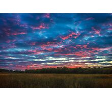 Dusk flame thrower Photographic Print