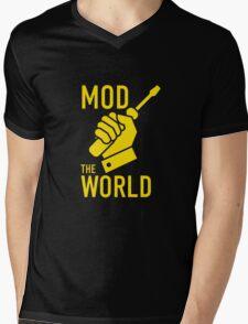 Mod The World Mens V-Neck T-Shirt