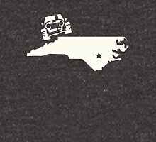 North Carolina Outline Jeep Logo Unisex T-Shirt